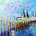 Shrimpboats by Carol Sprovtsoff