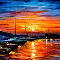 Sicily - Harbor Of Syracuse by Leonid Afremov