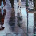 Sidewalk Reflections by Guenevere Schwien