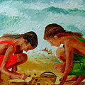 Sisters On The Beach by Inna Montano