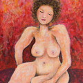Sitting Nude by Natalie Holland