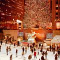 Skating At Rockefeller Plaza by Heidi Reyher