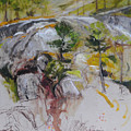 Sketch For Ogwen Painting by Harry Robertson