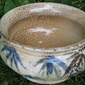 Smoke-fired Bamboo Leaves Bowl by Julia Van Dine