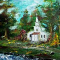 Smokey Mountains Church by Lynda McDonald