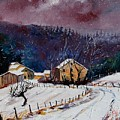 Snow In Sechery by Pol Ledent