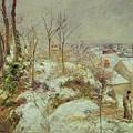 Snow Scene by Camille Pissarro