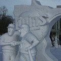 Snow Sculpture by Laurie Prentice