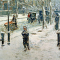 Snow Storm On Fifth Avenue by Childe Hassam