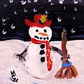 Snowman Under The Stars by Mary Carol Williams