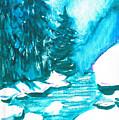 Snowy Creek Banks by Seth Weaver