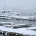Snowy Harbor by Ania M Milo