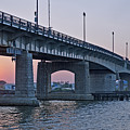 South Capitol Street Bridge Over Anacostia River In Washington Dc by Brendan Reals