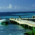 South Caye Belize Boat Dock by Gary Wonning