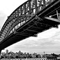 Spanning Sydney Harbour - Black And White by Kaye Menner
