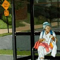 Speed Bumps Ahead -  Urban Painting by Linda Apple