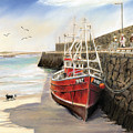 Spiddal Harbour by Vanda Luddy
