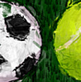 Sports Balls Abstract by David G Paul