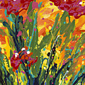 Spring Tulips Triptych Panel 1 by Nadine Rippelmeyer