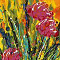 Spring Tulips Triptych Panel 2 by Nadine Rippelmeyer