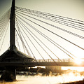 St. Boniface Bridge At Winter Sunrise by Michael Knight