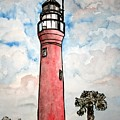 St Johns River Lighthouse Florida by Derek Mccrea
