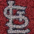 St. Louis Cardinals Bottle Cap Mosaic by Paul Van Scott