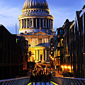 St. Paul's Cathedral From Millennium Bridge by Elena Elisseeva
