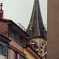 St. Peter Tower Zurich Switzerland by Susanne Van Hulst