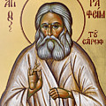St Seraphim Of Sarov by Julia Bridget Hayes