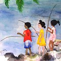 St Simons Fishermen by Sandi Stonebraker