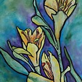 Stained Glass Flowers by Ruth Kamenev