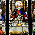 Stained Glass Window Last Supper Saint Giles Cathedral Edinburgh Scotland by Christine Till