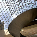 Stairs In Louvre Museum. Paris.  by Bernard Jaubert