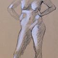 Standing Nude 1 by Robert Bissett