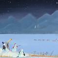 Star Gazing Snowmen by Thomas Griffin