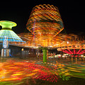 State Fair Rides At Night I by Clarence Holmes