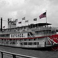 Steamboat Natchez Black And White by Melanie Snipes