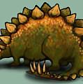 Stegosaurus by Kevin Middleton
