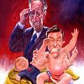 Stewart And Colbert by Ken Meyer jr