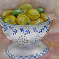 Still Life With Lemons by Kathy Mitchell