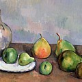 Still Life With Pitcher And Fruit by Paul Cezanne