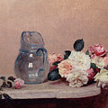 Still Life With Roses by Ignace Henri Jean Fantin-Latour
