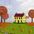 Stone House In Autumn by Paul Little