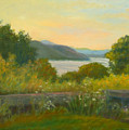 Stone Wall Above The Hudson by Phyllis Tarlow