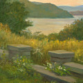 Stone Wall On The Hudson by Phyllis Tarlow