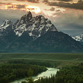 Storm Clouds Over The Tetons by Andrew Soundarajan