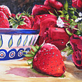 Strawberries And Roses by Karen Stark