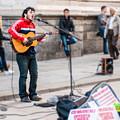 Street Singer in Milan