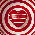 Striped Heart In Bowl by Garry Gay